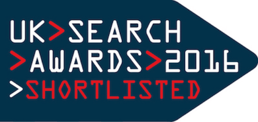 Fluid Digital Shortlisted for 2016 UK Search Awards