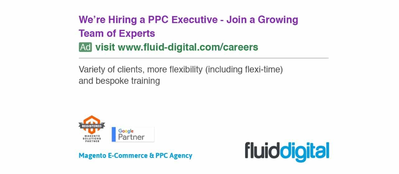 We're Recruiting – PPC Executive