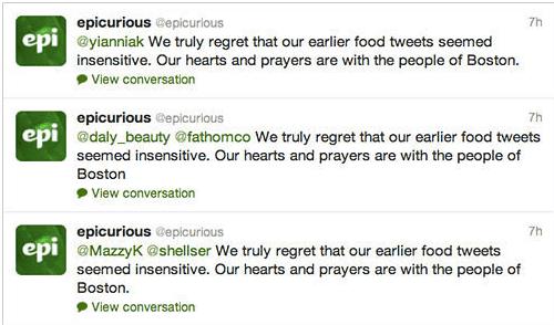 Epicurious apology 2013