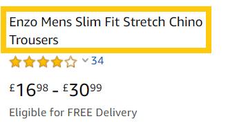 Optimised Amazon Product Title