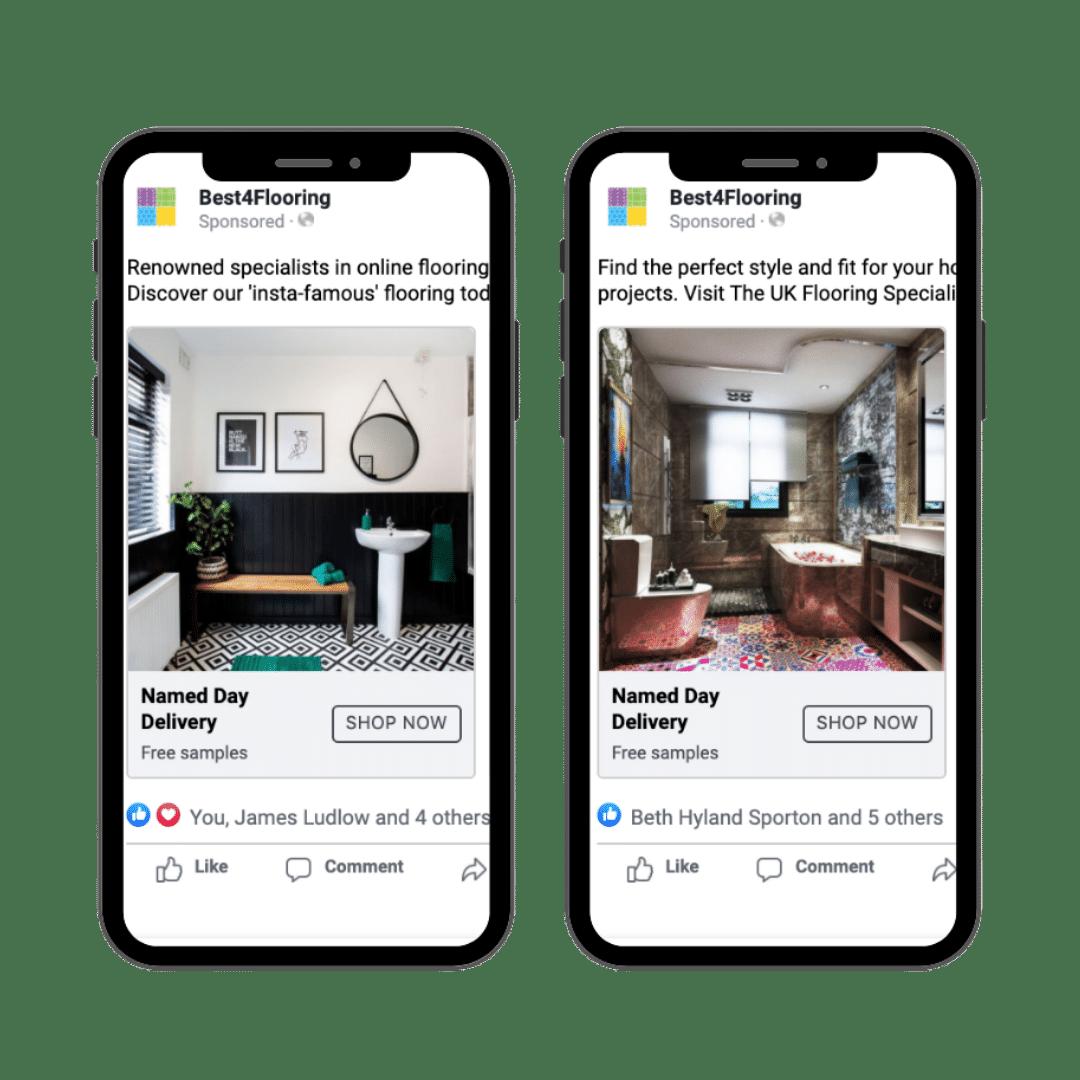 Best4Flooring Paid Social ads